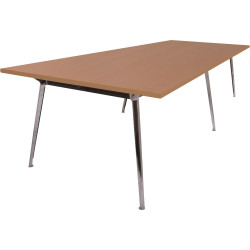 Rapid Air Boardroom Table 2 Piece Beech top Double Stage 3200mm x 1200mm x 750mm H
