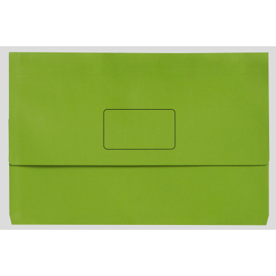 Marbig Slimpick Document Wallet A3 Manilla 30mm Gusset Lime