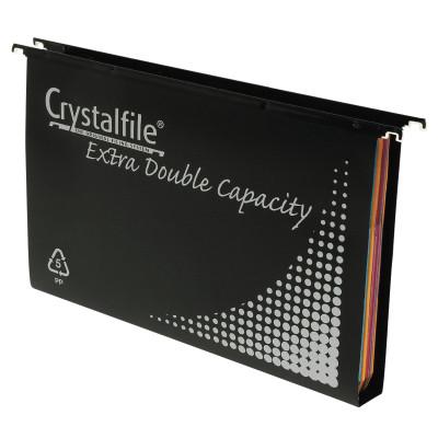 Crystalfile Suspension Files Polypropylene Heavy Duty Double Capacity Box Of 10