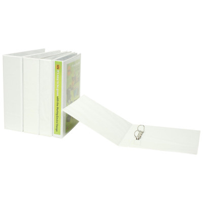 Marbig Clearview Insert Binder A4 3D Ring 65mm White