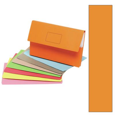Marbig Slimpick Document Wallet Foolscap Manilla 30mm Gusset Orange